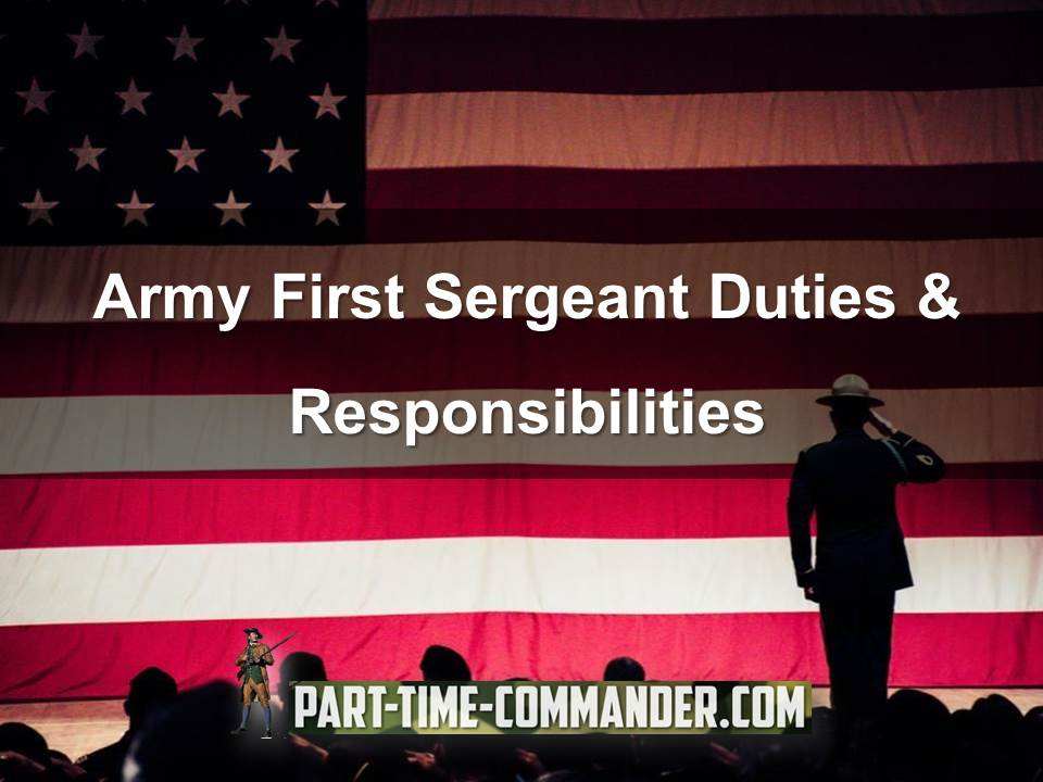 army first sergeant duties