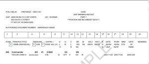 Unit Manning Report