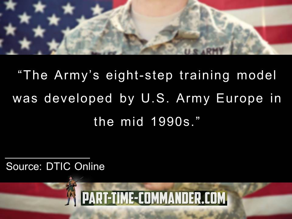 8 step training model was developed by U.S. Army Europe in the mid 1990s