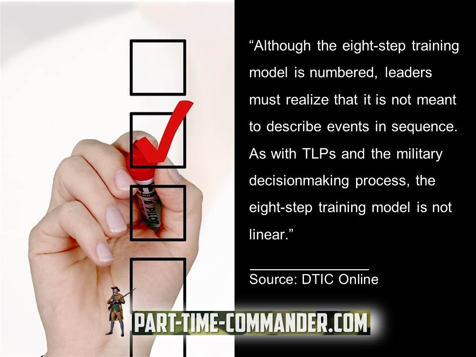 8 step training model is numbered it is not linear