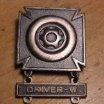 army driver's badge