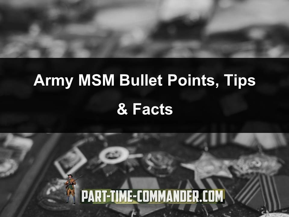 sample army msm bullet points