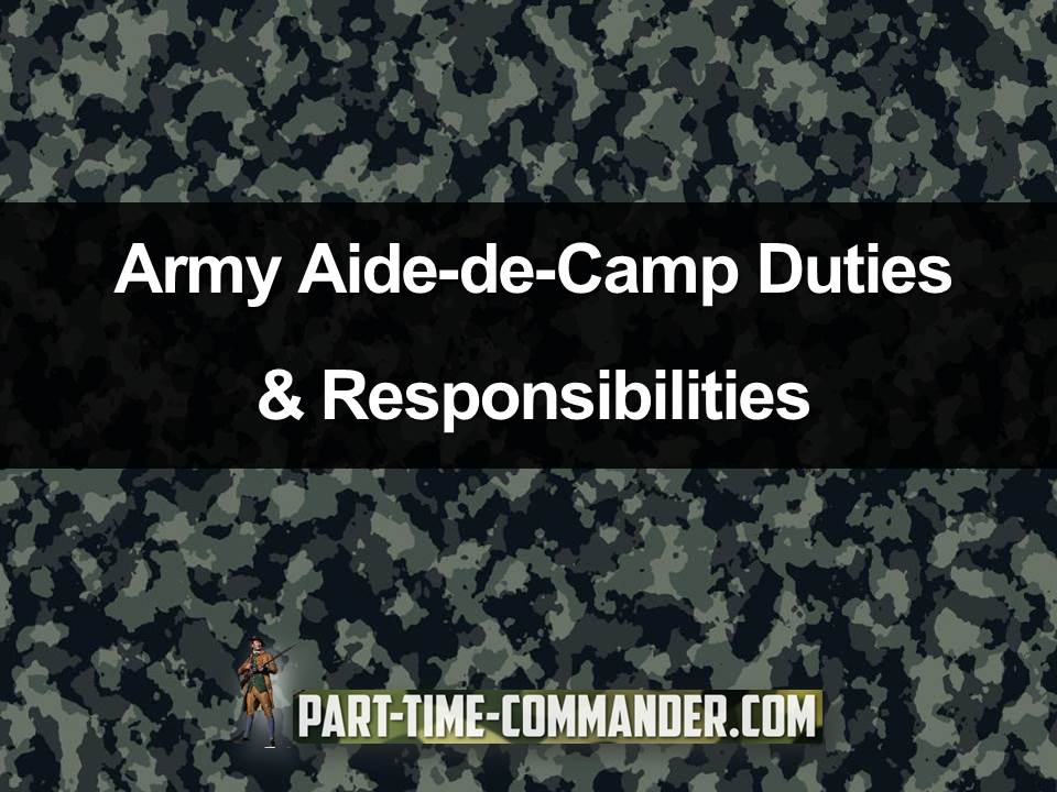 army aide de camp duties