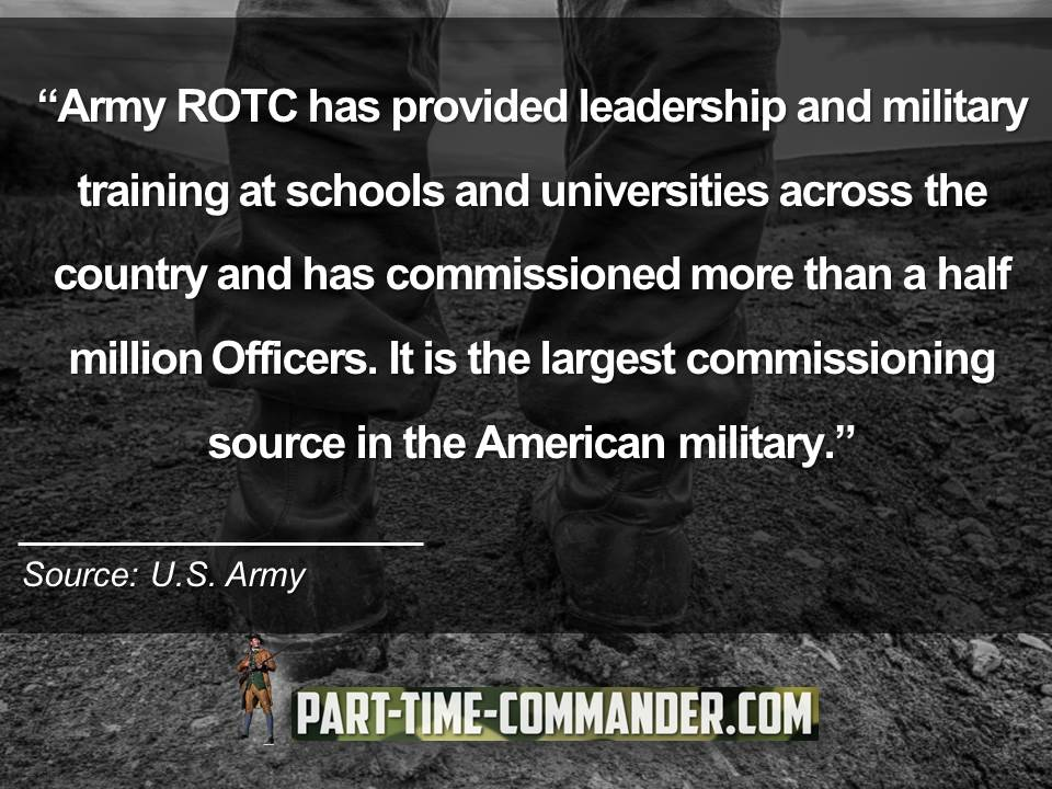 Army ROTC has provided leadership and military training at schools and universities