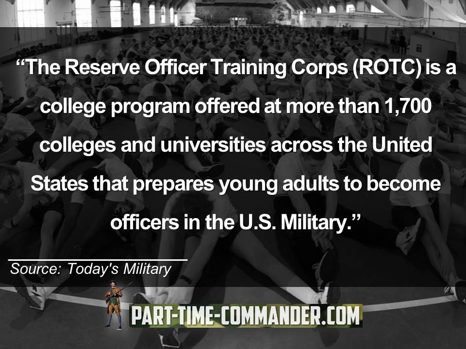 The Reserve Officer Training Corps ROTC is a college program offered at more than 1,700 colleges and universities