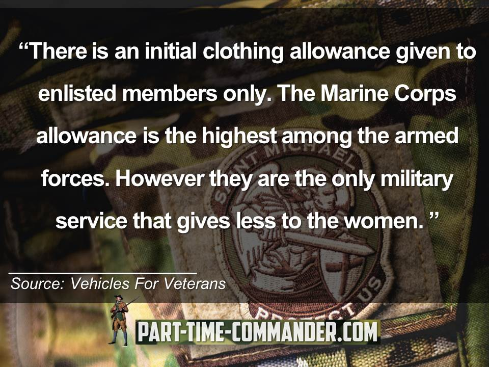 army clothing allowance