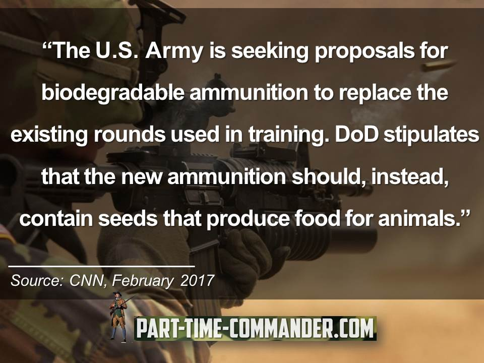 The US army is seeking proposals for biodegradable