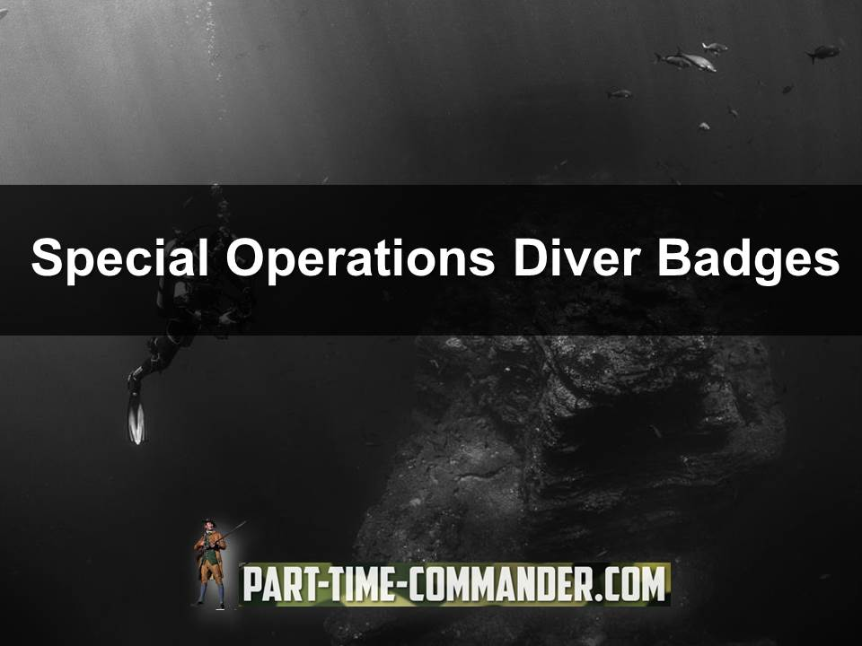 special operations diver badges
