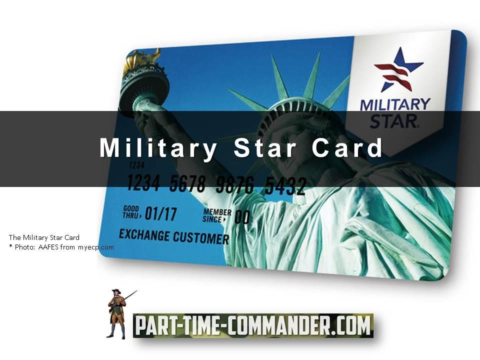 Military Star Card