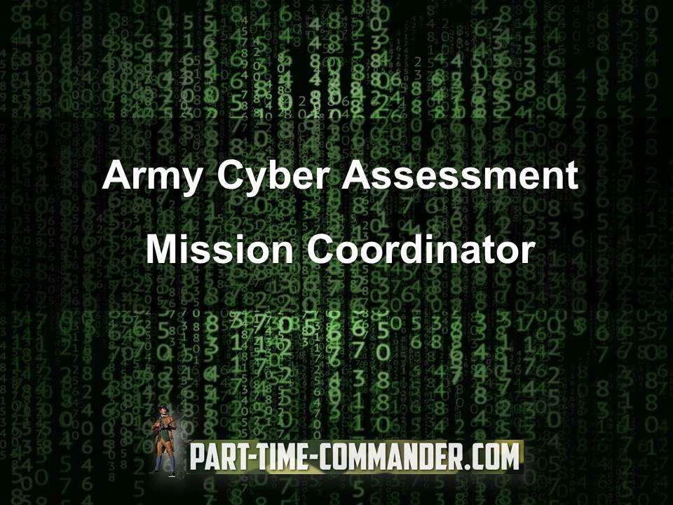 army cyber assessment mission coordinator