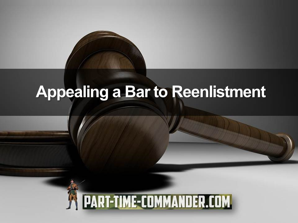 appealing a bar to reenlistment