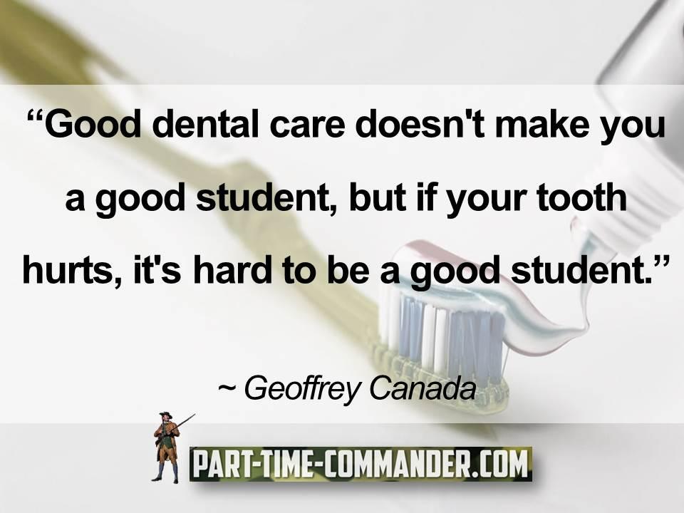 Good dental care doesnt make you a good student