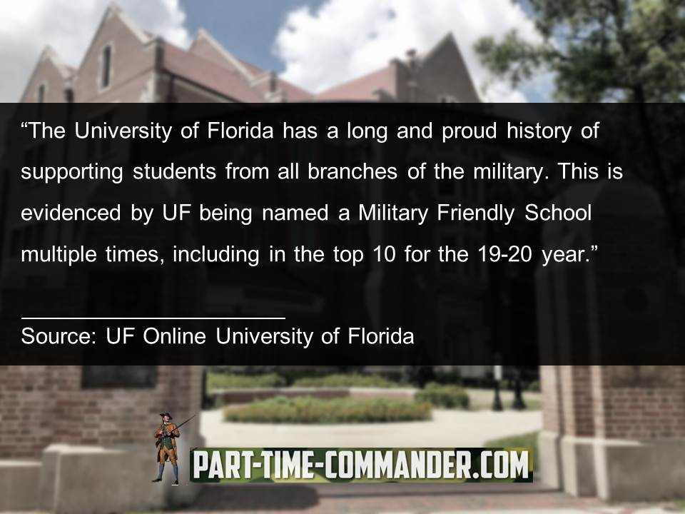 The University of Florida has a long and proud history of supporting students from all branches of the military